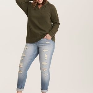 Torrid Distressed Boyfriend Jeans